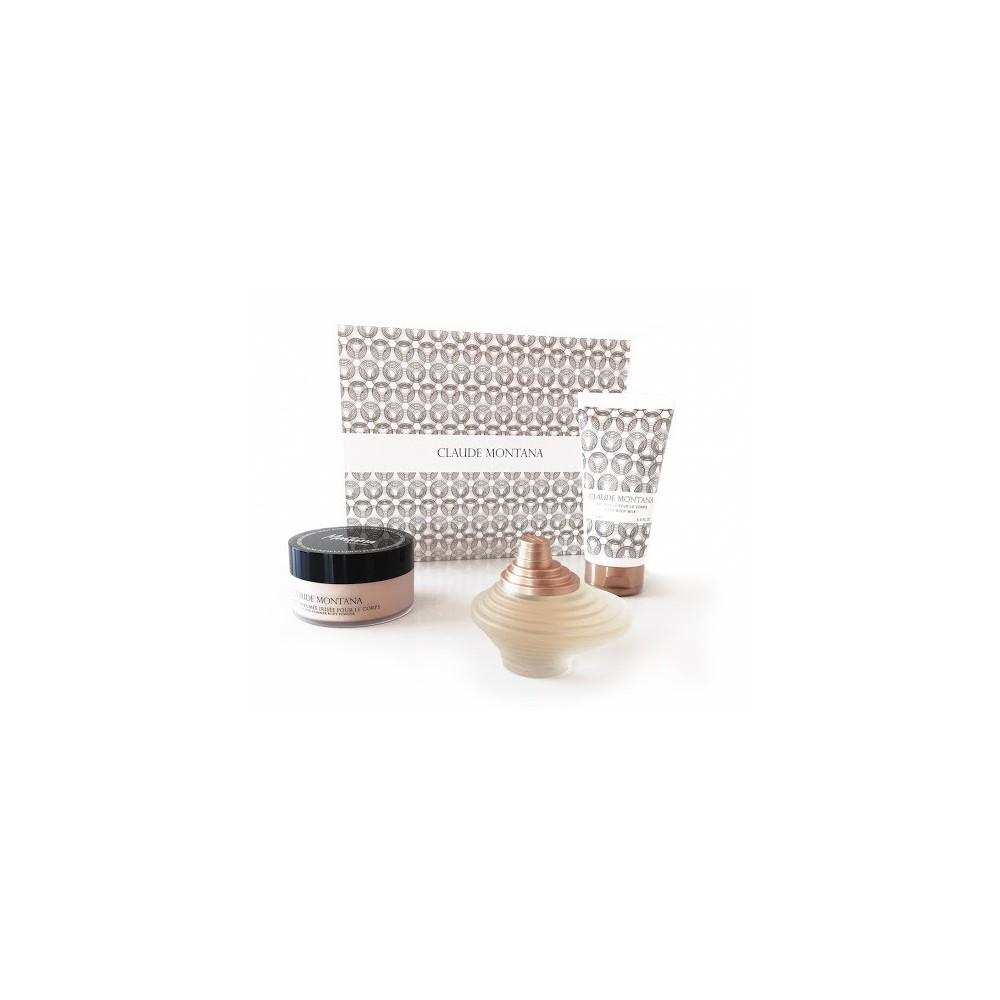 claude-montana-coffret-eau-de-parfum-100ml-lait-corps-150ml-poudre-parfumee-irisee-50g